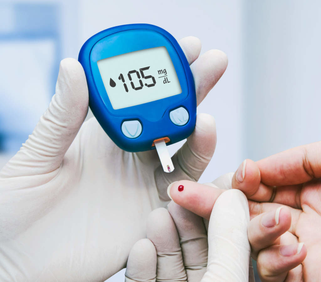 Using a glucometer to get the random blood sugar value