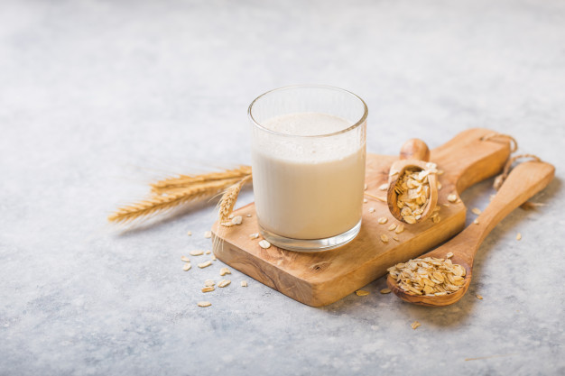 Oat milk is made using oats